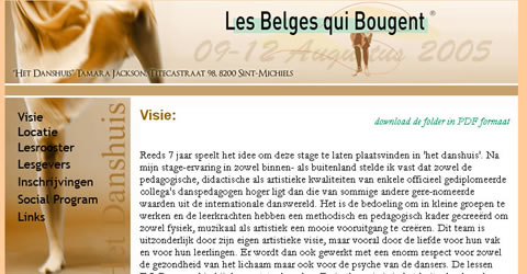 Les Belges qui bougent (Dance Workshops)