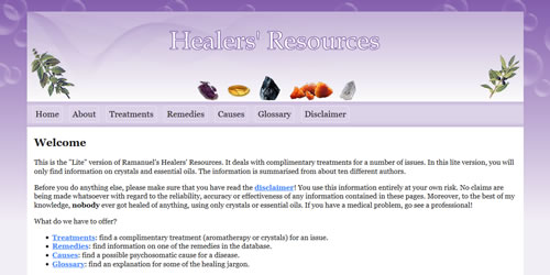 Healers' Resources (Online database)